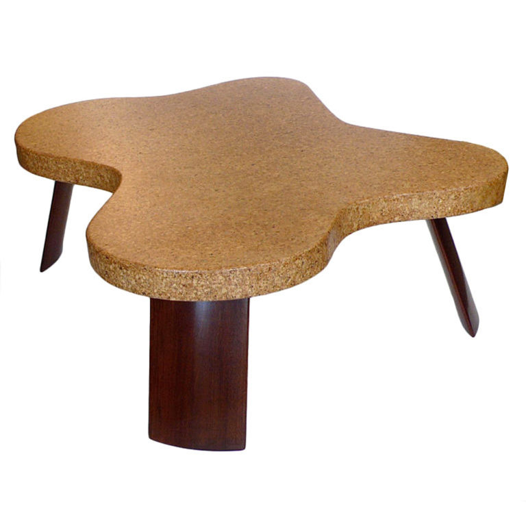 TFTM Melrose | Vintage collector furniture | Rare Original Amoeba Cork Top Coffee Table by Paul Frankl 3