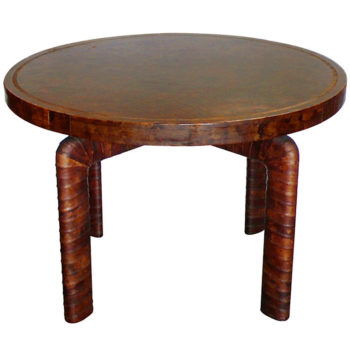 TFTM Melrose | Vintage Furniture | Fantastic Billy Haines Custom Tortise Leather Game Table 6