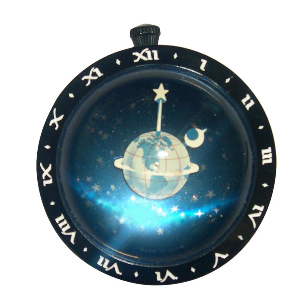 Astronomical Art Deco Paperweight Clock By Westclock