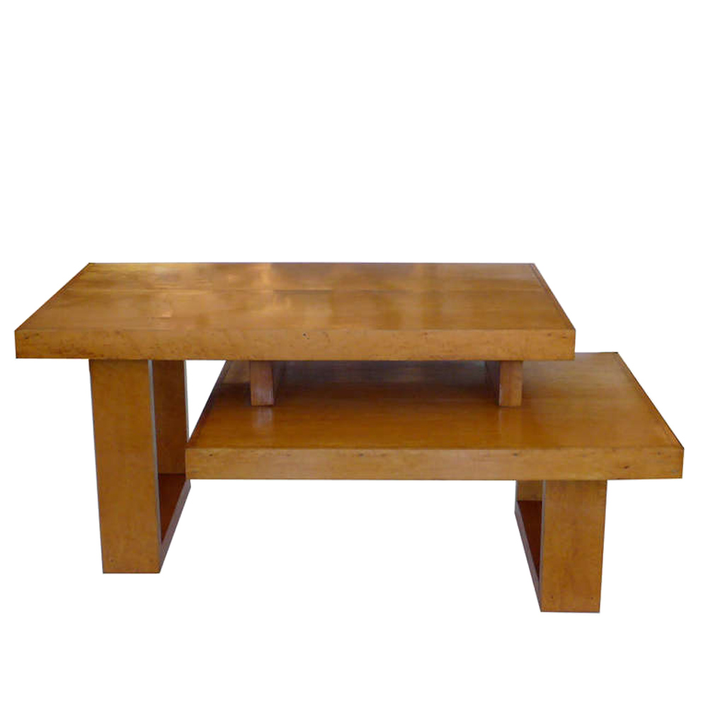 Maple architectural two tier coffee table tftm melrose for Architectural coffee table
