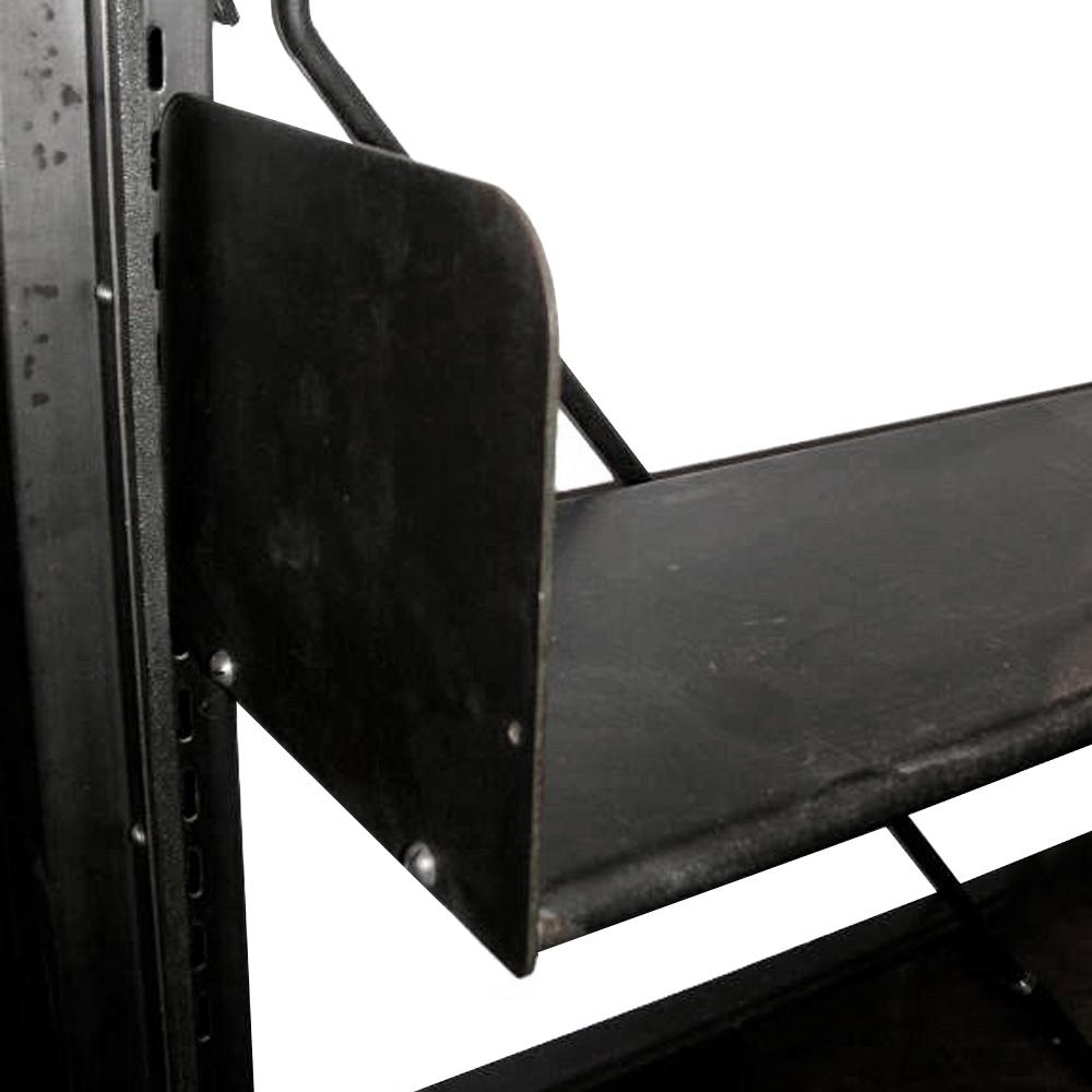 Industrial 1912 Library Freestanding Steel Bookshelf