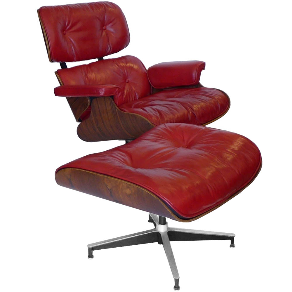 Surprising Custom Red Rosewood Eames 670 Chair 671 Ottoman Tftm Melrose Dailytribune Chair Design For Home Dailytribuneorg