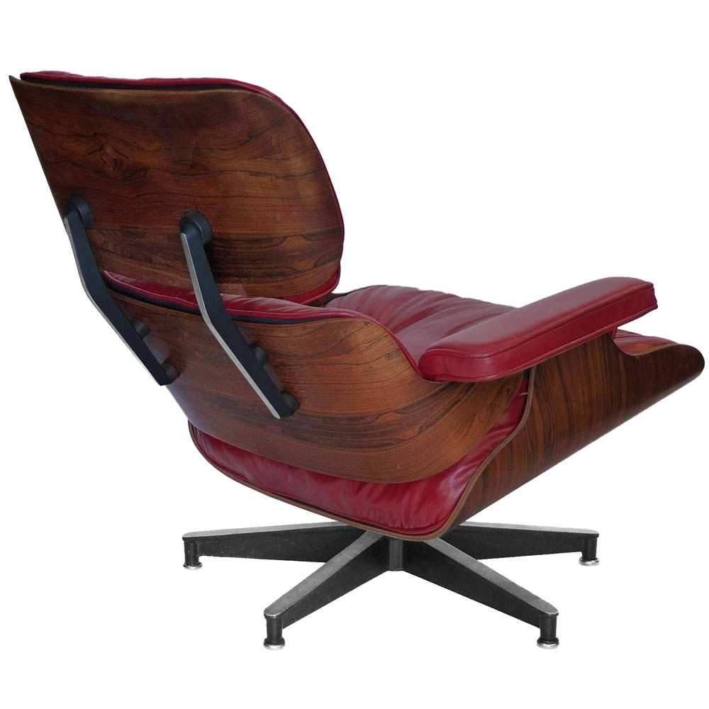custom red rosewood eames 670 chair 671 ottoman tftm melrose