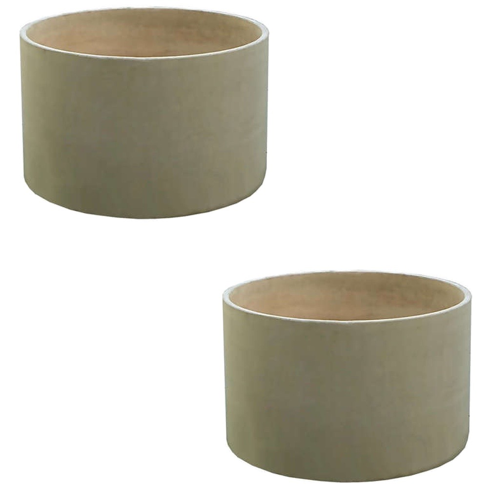 Pair Large Architectural Pottery Planters By John