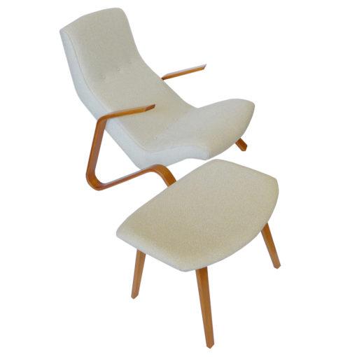 Early Eero Saarinen Grasshopper Chair Ottoman Knoll