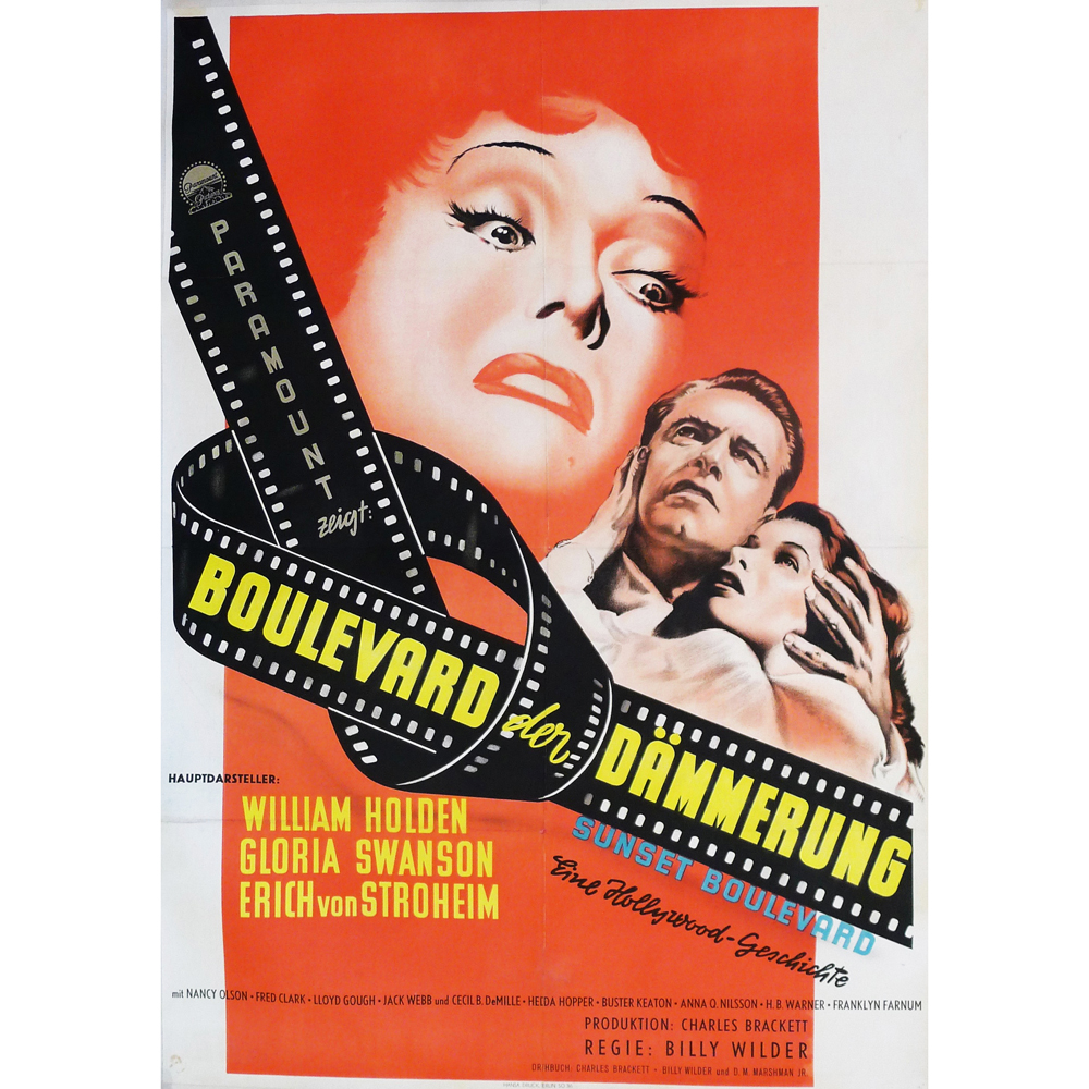 Original 1950 Quot Sunset Blvd Quot Movie Poster Tftmmelrose